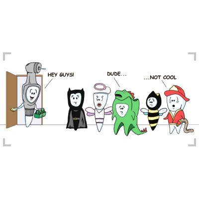 Halloween dental comic strip